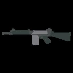 Cargador arma pistola a tope cañón plano