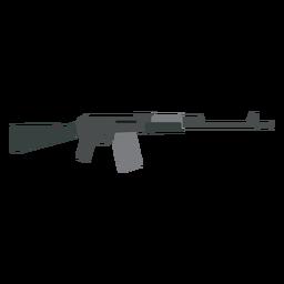 Carregador arma bunda metralhadora cano arma plana