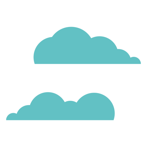 Par de nubes dos cielo plano Transparent PNG