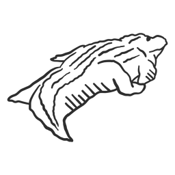 Cauda de jacaré de crocodilo doodle animal