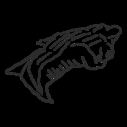 Cauda de jacaré de crocodilo doodle animal Transparent PNG