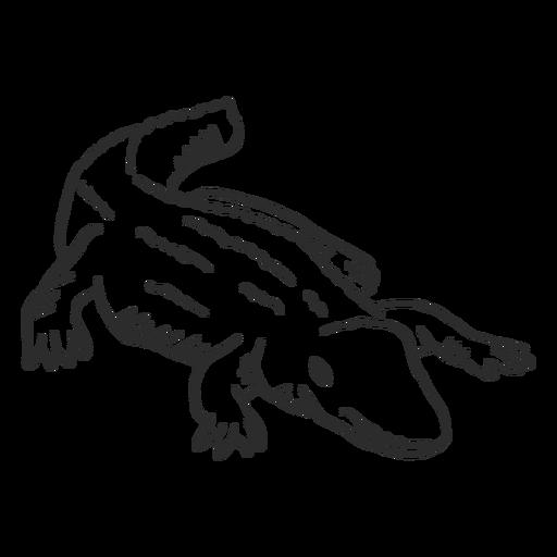Cocodrilo cola cocodrilo doodle animal Transparent PNG