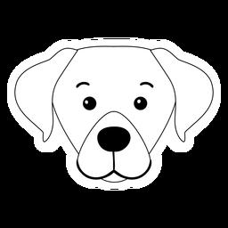Perro cachorro hocico oreja trazo animal