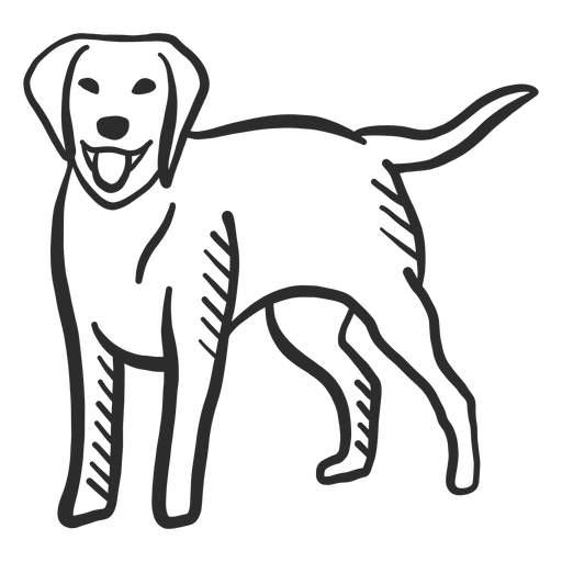 Dog puppy tail tongue ear doodle animal Transparent PNG