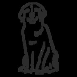 Animal do doodle da orelha da língua do cachorro cachorro