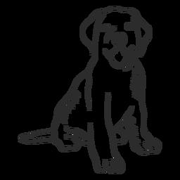 Hund Welpen Zunge Schwanz Ohr Gekritzel Tier