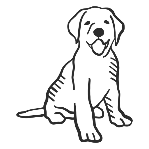Dog puppy tongue tail ear doodle animal Transparent PNG