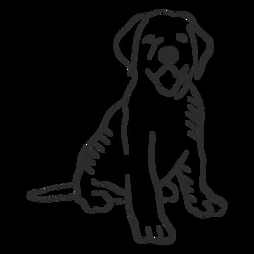 Perro cachorro lengua cola oreja doodle animal Transparent PNG