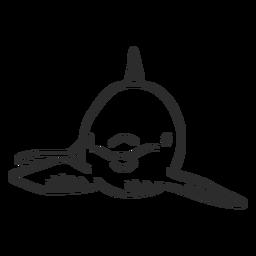 Cola de delfín natación flipper doodle animal