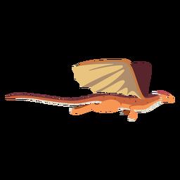Asa de dragão cauda escalas voando ilustração cobra