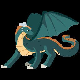 Dragón ala cola escamas ilustración serpiente