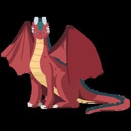 Escamas de cola de ala de dragón sentado ilustración serpiente