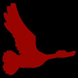 Pato drake asa de bico de pato selvagem voando padrão silhueta detalhada pássaro