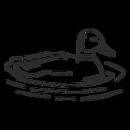 Pato drake asa bico de pato selvagem doodle pássaro