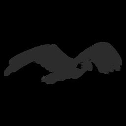 Águia voando bico asa garra doodle pássaro