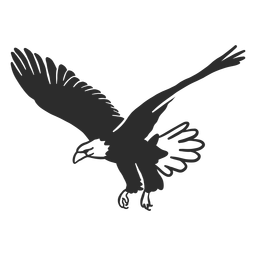 Águia voadora asa bico garra doodle pássaro