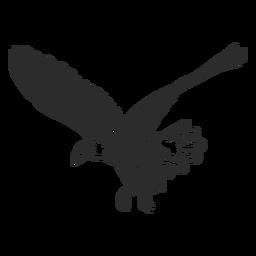 Águila volando ala pico talon doodle ave