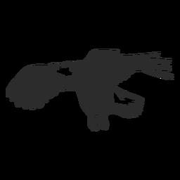 Asa de águia voando bico garra doodle pássaro