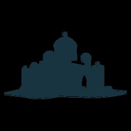 Fortaleza ciudadela fortaleza torre puerta puerta domo cúpula silueta detallada arquitectura