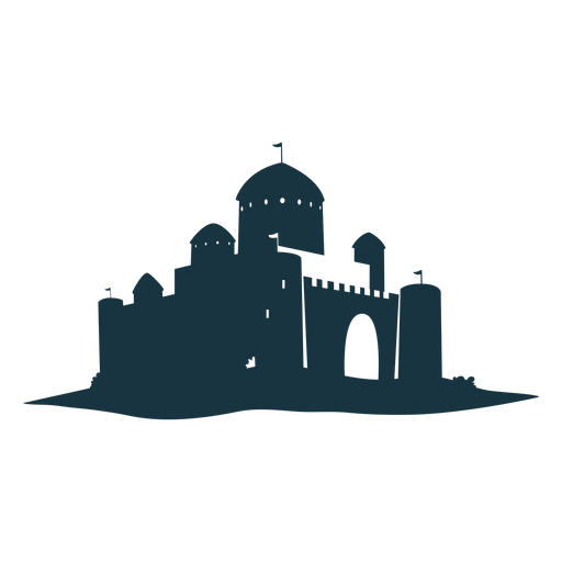 Fortress citadel stronghold tower gate roof dome detailed silhouette architecture Transparent PNG