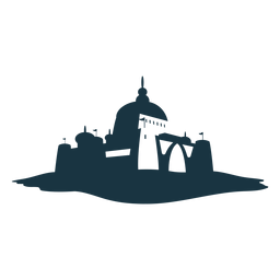 Fortress tower gate citadel stronghold castle detailed silhouette architecture