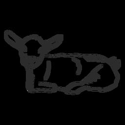 Orelha de cauda de cabra doodle animal