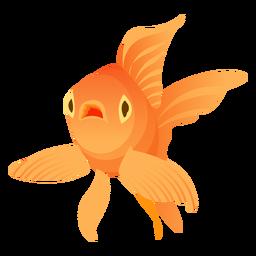 Pez dorado aleta branquias cola ilustración pez
