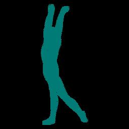 Grace ballet bailarina postura rayas silueta ballet