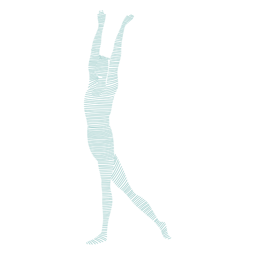 Grace ballet dancer posture striped silhouette ballet