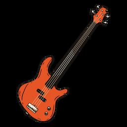 Guitarra cuerda cuello dedo tablero bosquejo