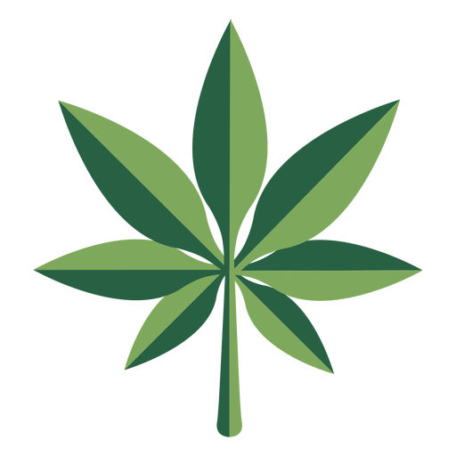 Hemp leaf marijuana drug flat plant Transparent PNG