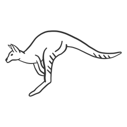 Animal de doodle de oreja de pata de cola de canguro