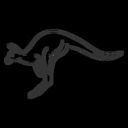 Canguro cola pierna oreja doodle animal
