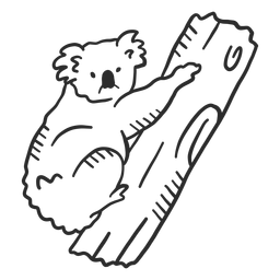 Koala oreja nariz rama doodle animal