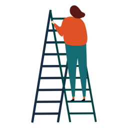 Ladder step ladder height woman flat raise