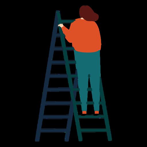 Ladder step ladder height woman flat raise Transparent PNG