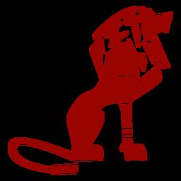 León rey cola melena patrón detallado silueta gato