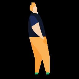 Pessoa franja postura plana pessoa