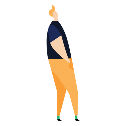Hombre fleco postura plano persona