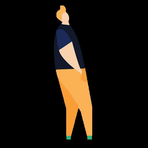Man fringe posture flat person