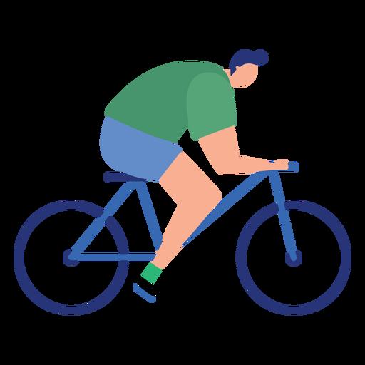 Man sportsman bike bicycle flat person