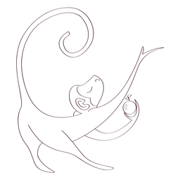 Bozal de cola de mono mono manzana línea animal