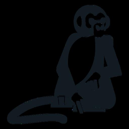 Monkey leg tail muzzle sitting detailed silhouette animal Transparent PNG