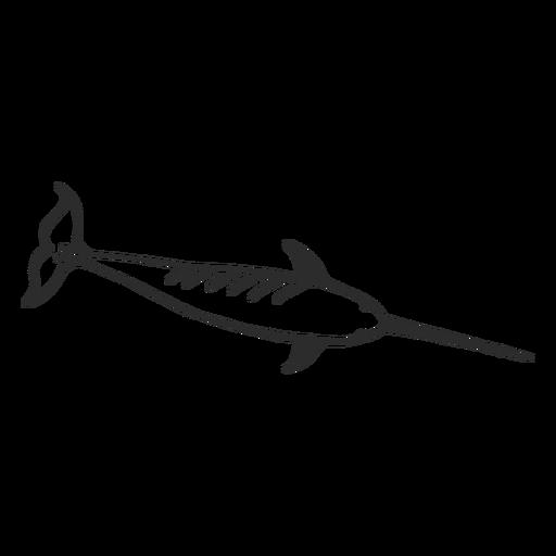Narval aleta colmillo de cola doodle mamífero