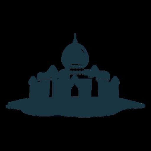 Palacio de la puerta de la torre del techo cúpula de la aguja silueta detallada arquitectura
