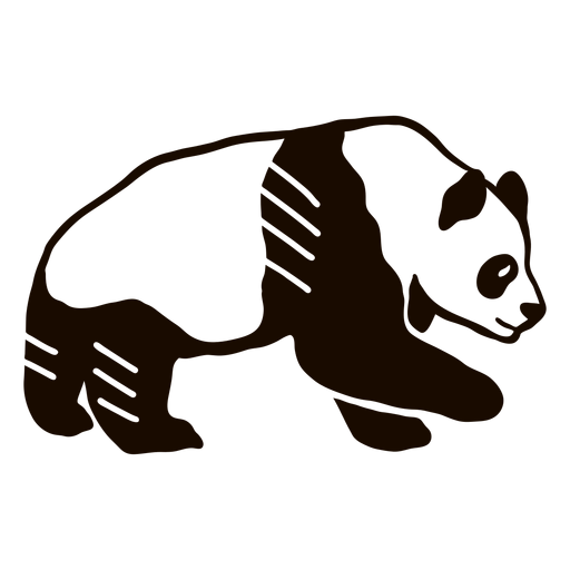 Panda oreja hocico gordo doodle animal Transparent PNG