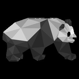 Panda orelha ponto focinho gordura baixo poli animal