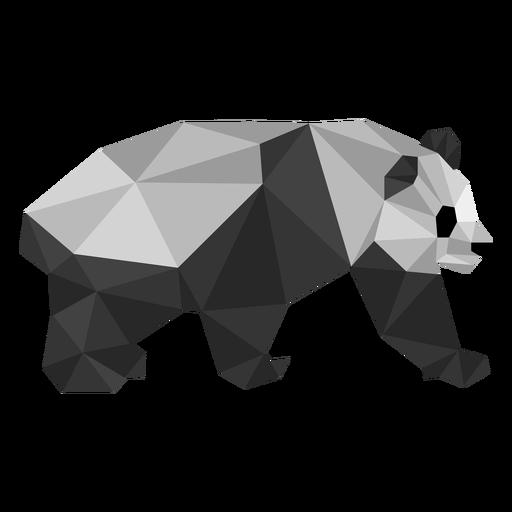Panda ear spot muzzle fat low poly animal Transparent PNG