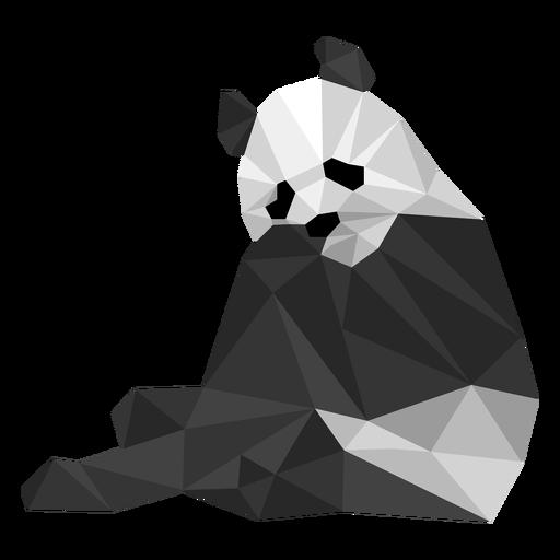 Panda sentado boca mancha hocico grasa baja poli animal Transparent PNG
