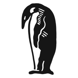 Pássaro de rabisco de asa de bico de pinguim